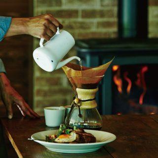 薪ストーブとモーニングコーヒー